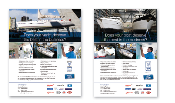 Sydney City Marine promotional material